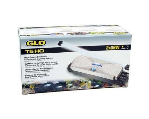 FLUVAL Système d'éclairage Glomat T5 - 2 tubes de 39W - Pour aquarium