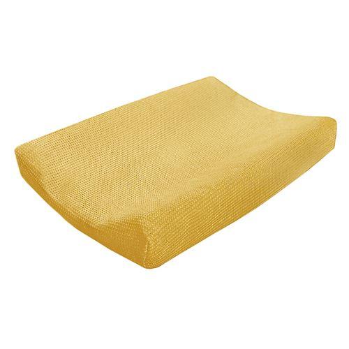 Cottonbaby housse de matelas à langer Wafel48 x 72 cm jaune ocre