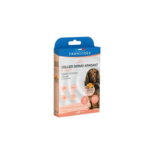 Collier Dermo-Apaisant et Repulsif Pour Chiots et Petits Chiens de 2 kg à 10 kg