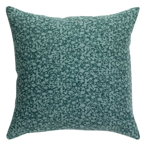 Coussin stonewashed Zeff vert de gris 80 x 80 cm Vivaraise