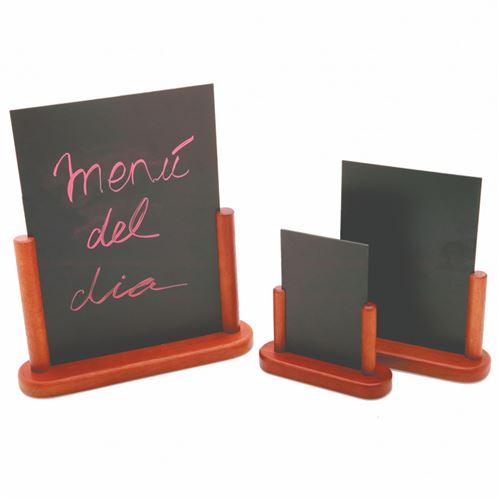 Ardoise de Table avec Cadre en Bois Massif 10 à 21 cm - Pujadas - Bois et plastique 10 x 15 cm