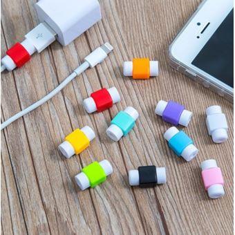 lot x2 protege cable pour cable chargeur iphone anti casse universel noir accessoire pour. Black Bedroom Furniture Sets. Home Design Ideas