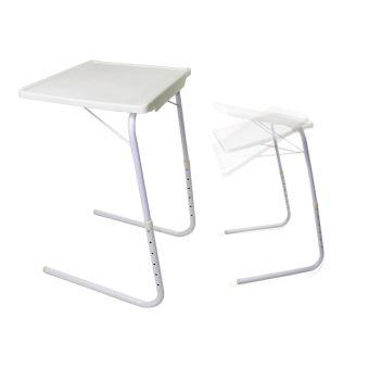 21 75 Sur Table D Appoint Ajustable Pliante Repas Support Pc Blanc