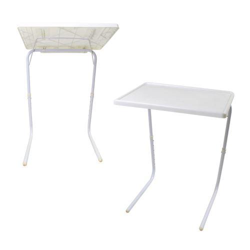 Blanc repas PC pliante d'appoint support Table ajustable XOPiwTZuk