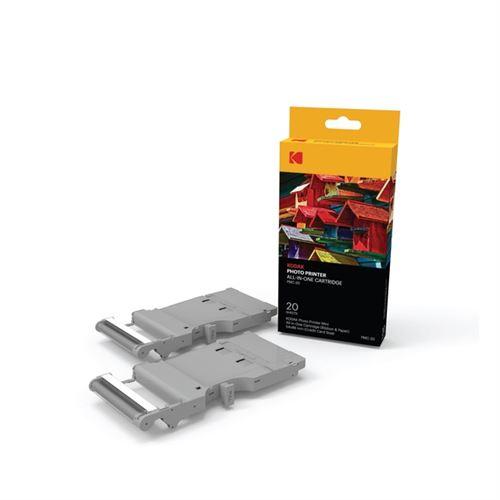 KODAK Papiers Photos et Cartouches - PMC20 - 20 papiers pour Imprimante Printer MINI