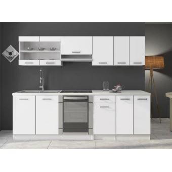 Cuisine DANA blanc laqué - 2m40 - 8 meubles