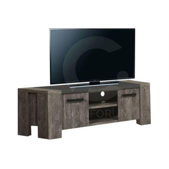 Meuble Tv Rustique Et Contemporain 150 Cm Coloris Chene Ancien