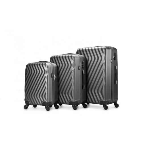Set De 3 Valises Abs Trolleys Air V Agon Gris