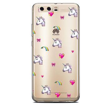 Coque Huawei Y6 2018 licorne coeur unicorn cute kawaii transparente