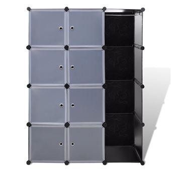 Armoire Penderie Cube Modulable Etagere De Rangement Vetement En Plastique 9 Compartiments 37 X 115 X 150 Cm Achat Prix Fnac