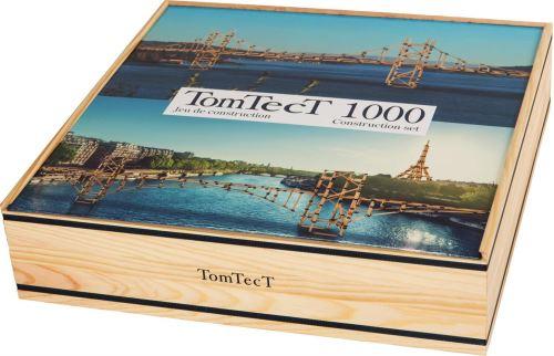 TOMTECT - Jeu de Construction en Bois - 1000 Pièces - Jeu Créatif - Dès 5 Ans - Stimule Concentration et Motricité - Ecologique