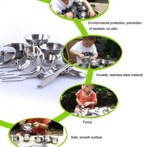 21 Sur 32pcs Set Enfants Play Maison Cuisine Jouets Batterie De