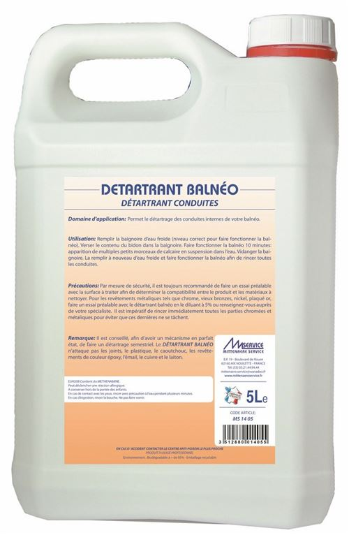 Détartrant BALNEO - Le bidon 5 litres