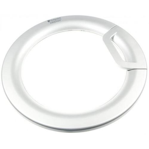 Hublot complet aluminium futura pour lave linge hotpoint ariston - d885349