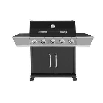 DUKE Barbecue a gaz 5 feux Grille + plancha fonte 84 x