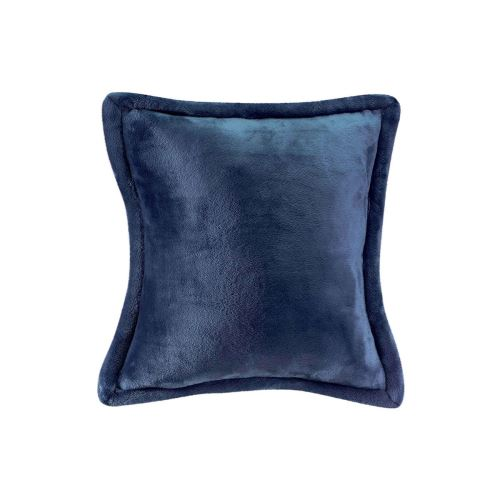 Coussin doux bleu 50 x 50 cm FERO