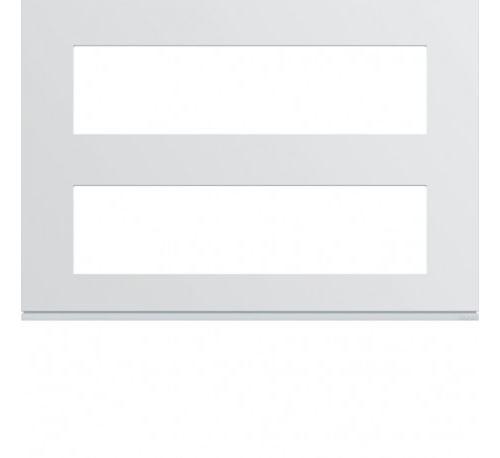 Plaque de finition 8 + 8 modules gallery - blanc pure - wxp0096 - hager