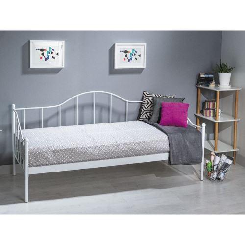 Lit simple - Dover - Pour matelas 90 x 200 cm - Blanc