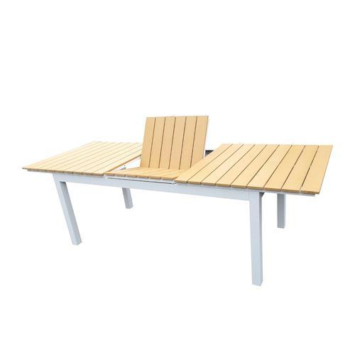 blanc aluminium extensible Table Avril Paris de jardin 180 XZOPiku
