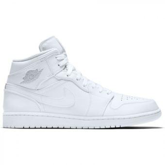 Chaussure Air Jordan 1 Mid blanc pour homme - Chaussures et ...