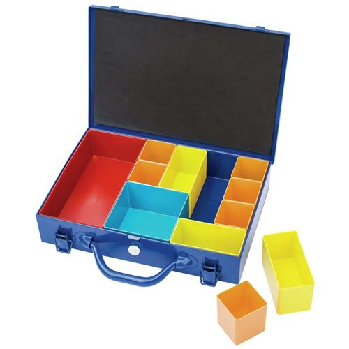 Draper Tools Boîte à 11 compartiments 32,9x22,5x6,5 cm Bleu