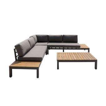 HANA Salon de jardin en bois d\'acacia - canapé modulable ...