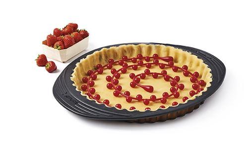 Mastrad - Chaîne de cuisson fond de tarte silicone - rouge