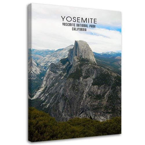Grand tableau sur toile Image imprimée moderne Canevas Paysage Parc National Yosemite 40x60