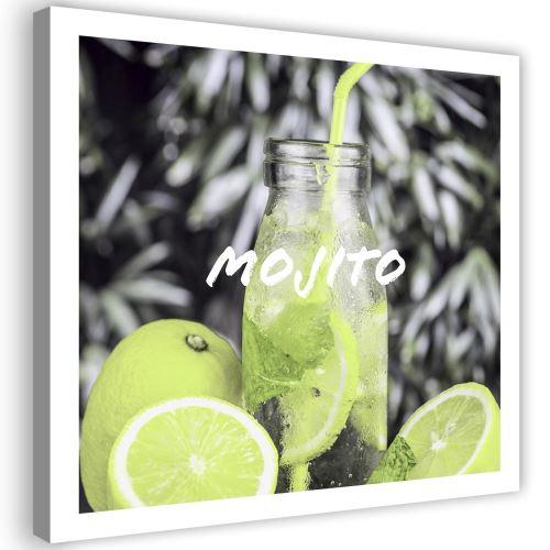 Impression sur toile Image Tableau Canevas Boisson Citrons 90x90