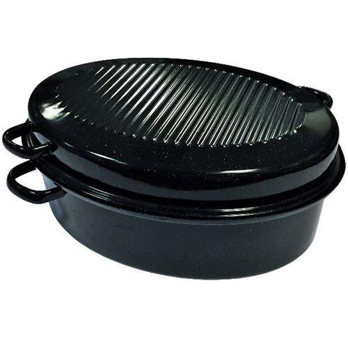 Kochstar Cocotte Ovale En Acier Emaille Avec 4 Poignees Decentrees - 38 Cm