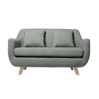 canap design scandinave 2 places gris skandi achat prix fnac - Canape Nordique