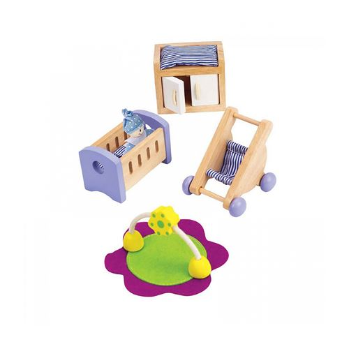 Hape E3459 Hape - Chambre de bébé en bois pour maison de poupées