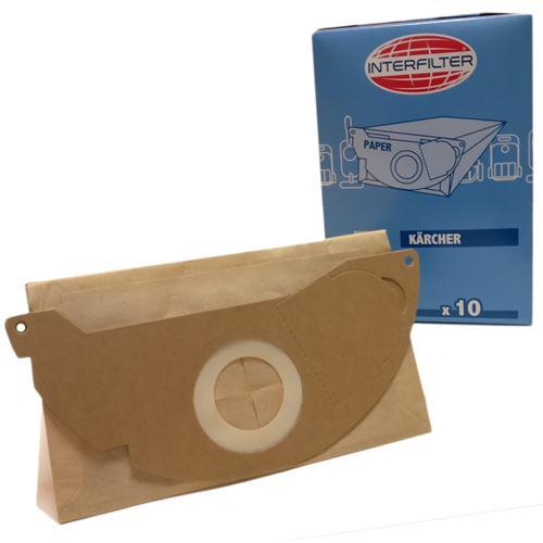Boîte de 10 sacs microfibres Aspirateur 35601521 KARCHER - 35804