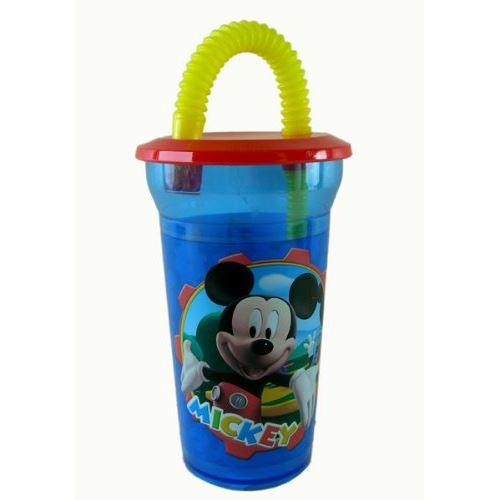 Tasse de sirop Disney - Mickey Friends coupe bouteille avec paille flexible