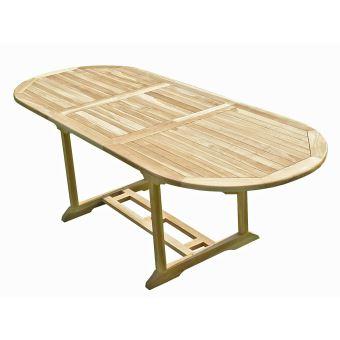 Table de jardin en teck MAHUI 8/10 places - Mobilier de ...