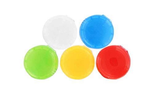 TNB 5 Identifiants pour câble - blanc / bleu / vert / jaune / rouge
