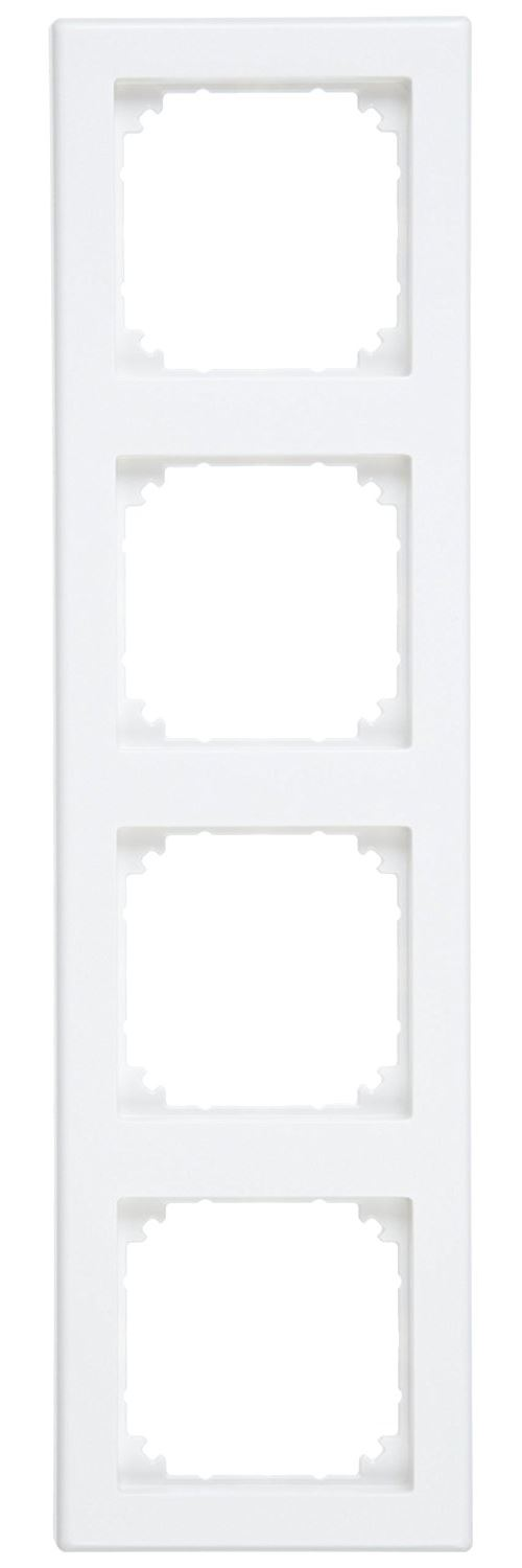 Merten 484419 Plaques de finition M-Smart, 4 poste, blanc mat