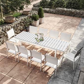 Avril Paris - Table de jardin extensible aluminium 180/240cm ...