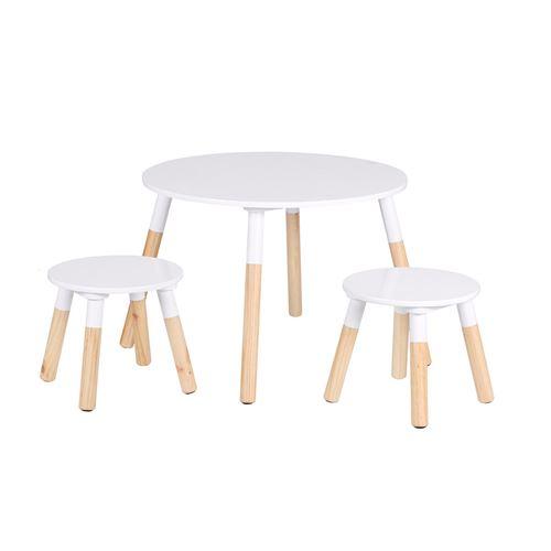 Table scandinave avec 2 tabourets Dream pour enfant