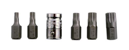 Embouts XZN Spline M5 à M12 + adaptateur 3/8\