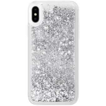Bling Bling Coque pailletee hybride pour Apple iPhone XS Max Argent Galaxie The Kase Paris