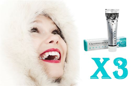 First White - 3 Dentifrices Blanchiment Dentaire Dents Sensibles De 30 Ml