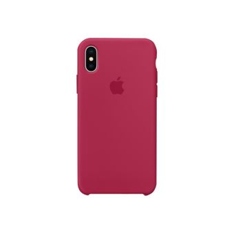 Coque en silicone Apple Rose rouge pour iPhone X