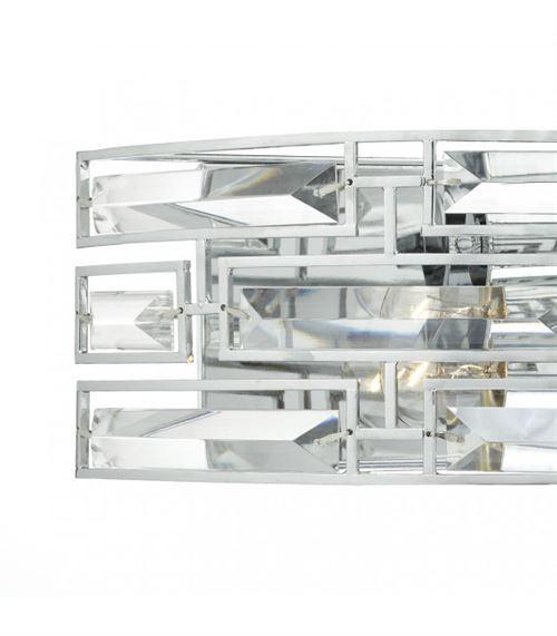 Applique murale Seville cristal et chrome poli 2 ampoules