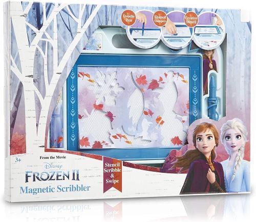 Disney Frozen 2 Ardoise Magique Grande Enfant Tableau de Dessin Magnétique avec Anna et Elsa La Reine des Neiges, Tableau Dessin Magnetique Enfant Effaçable, Jouet Éducatif, Cadeau Fille Garçon