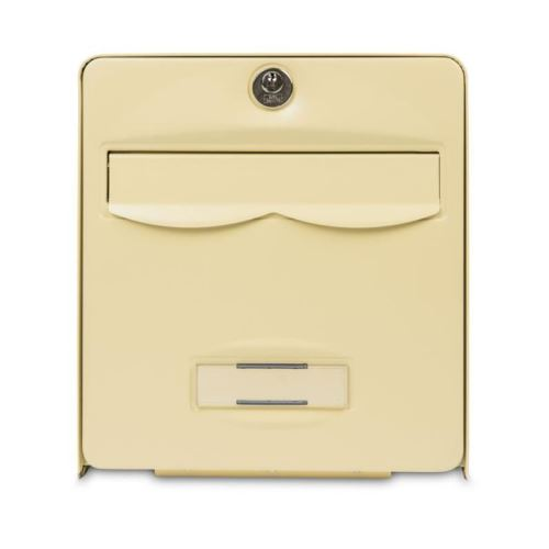 burg wachter mini boîte aux lettres balthazar en acier galvanisé - beige