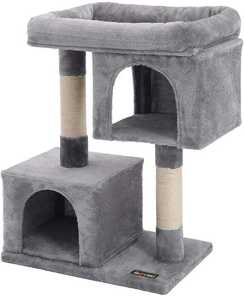 Arbre à chat 84 cm gris clair