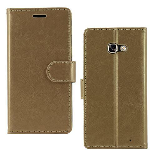ebestStar - Coque Samsung Galaxy A5 2017 A520F Etui Housse Portefeuille PU Cuir, Or / Doré Film protection écran en VERRE Trempé [Dimensions ...