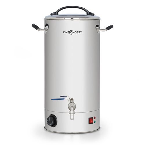 oneConcept Braufreund 30 Cuve de brassage bière maison avec robinet distributeur de boissons 30L - 30-110°C - inox