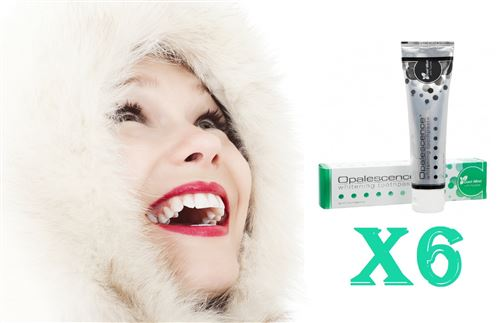 First White - 6 Dentifrices Blanchiment Dentaire De 100 Ml